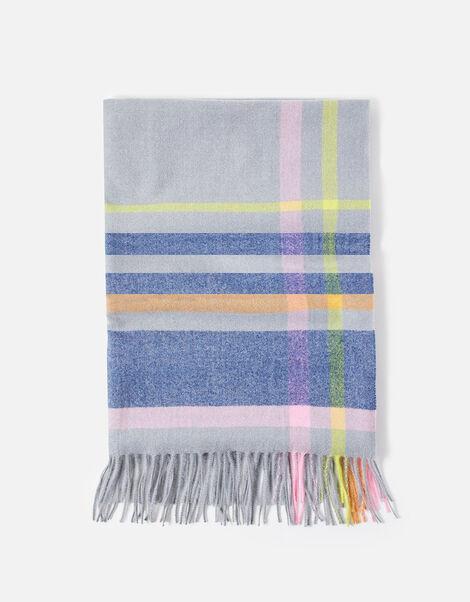 Portobello Check Blanket Scarf, , large