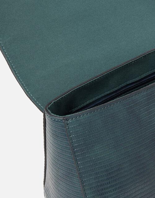 Jessica Croc Handheld Bag, Teal (TEAL), large