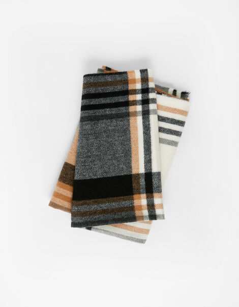 London Check Blanket Scarf, , large