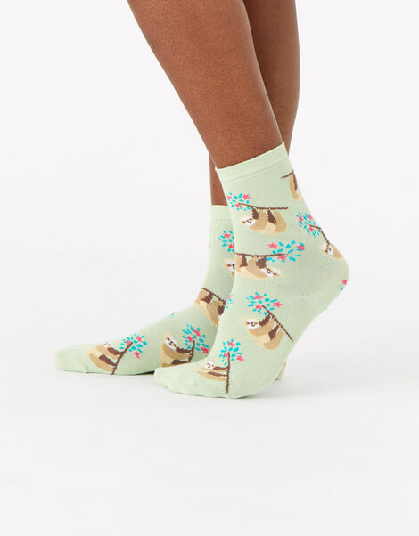All-Over Sloth Socks, , large