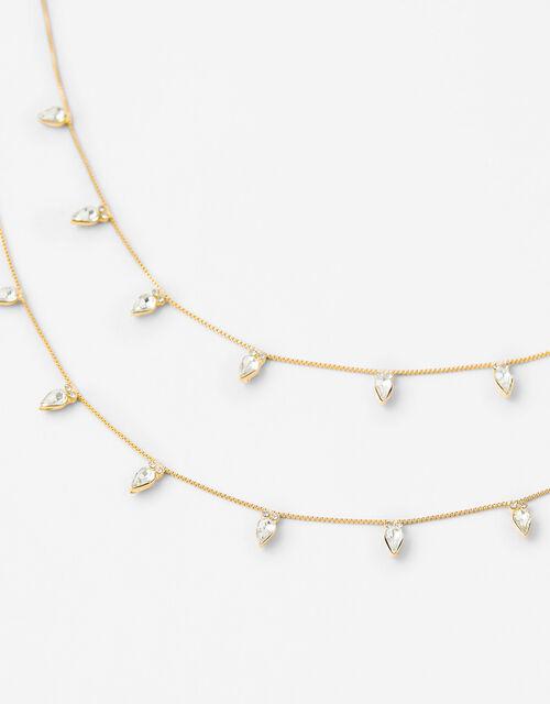 Joanna Teardrop Crystal Collar Necklace, , large