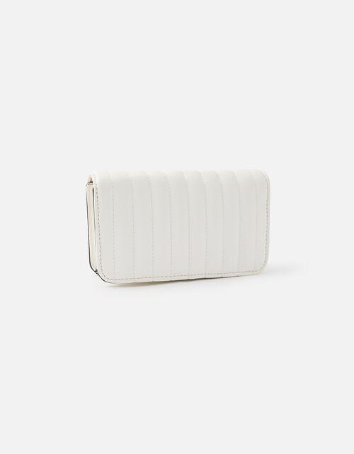 Studded Cross-Body Bag, White (WHITE), large
