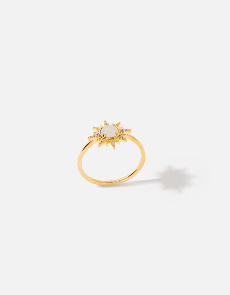 Gold-Plated Opal Starburst Ring Gold, Gold (GOLD), large