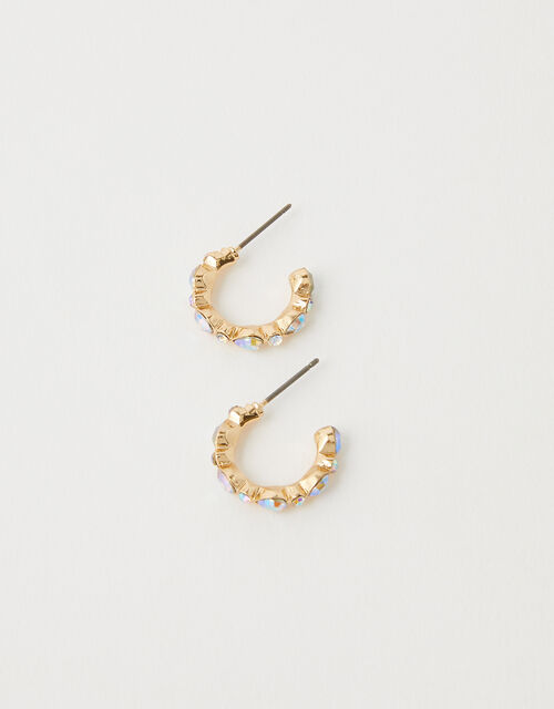 Gem Mini Hoops with Recycled Metal, , large