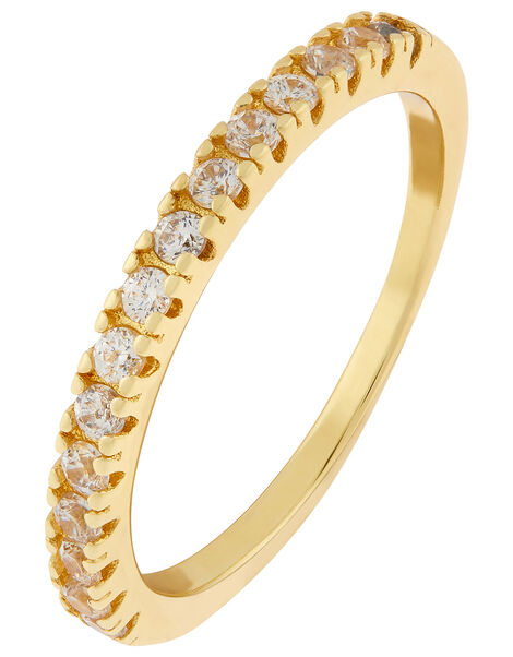 Gold-Plated Crystal Eternity Band Gold, Gold (GOLD), large