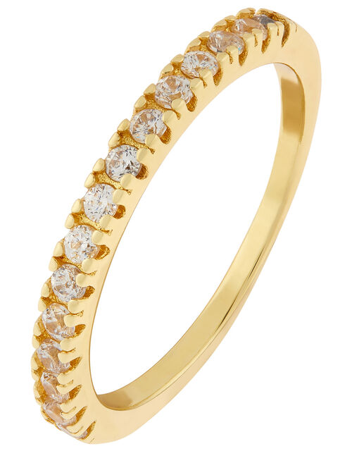 Gold-Plated Crystal Eternity Band, Gold (GOLD), large