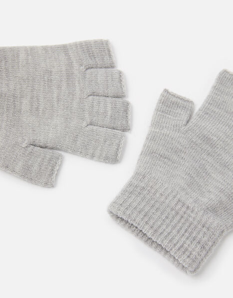Plain Fingerless Gloves, , large