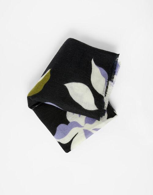 Hannah-Beth Floral Blanket Scarf, , large