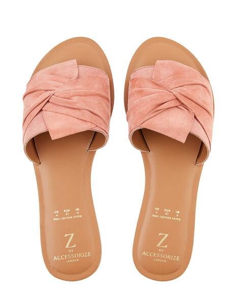 Perth Fabric Twist Sliders Pink, Pink (PINK), large