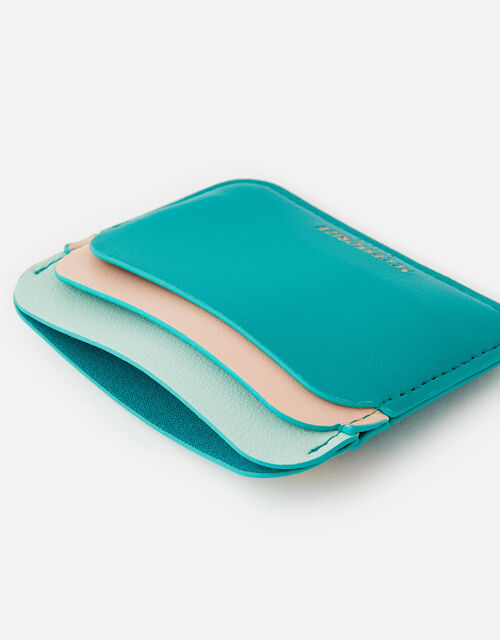 Curve Colour-Block Card Holder , Green (GREEN), large