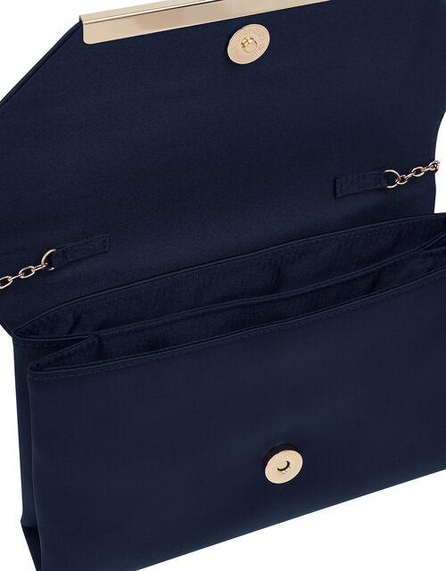 Louise Satin Clutch Bag, , large