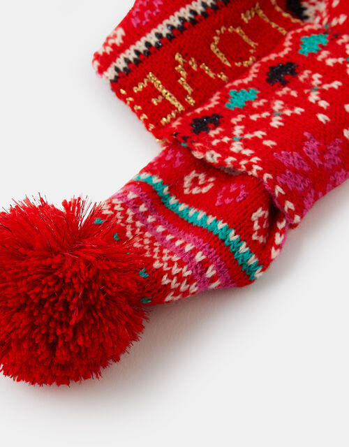 Love Christmas Fair Isle Dog Scarf, Red (RED), large