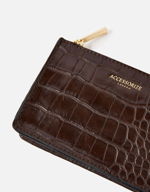 Croc Coin Purse , Brown (CHOCOLATE), large