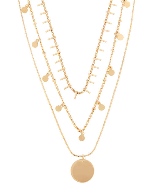 Chain Layered Necklace Set, , large