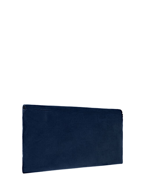 Natalie Suedette Envelope Bag, Blue (NAVY), large