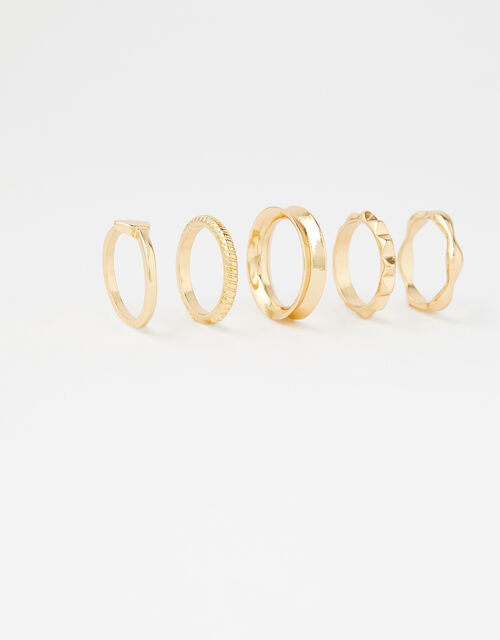 Geo Stacking Ring Set with Recycled Metal, Gold (GOLD), large