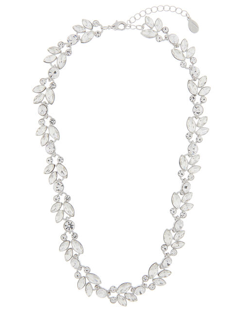 Harriet Crystal Flower Collar Necklace, , large