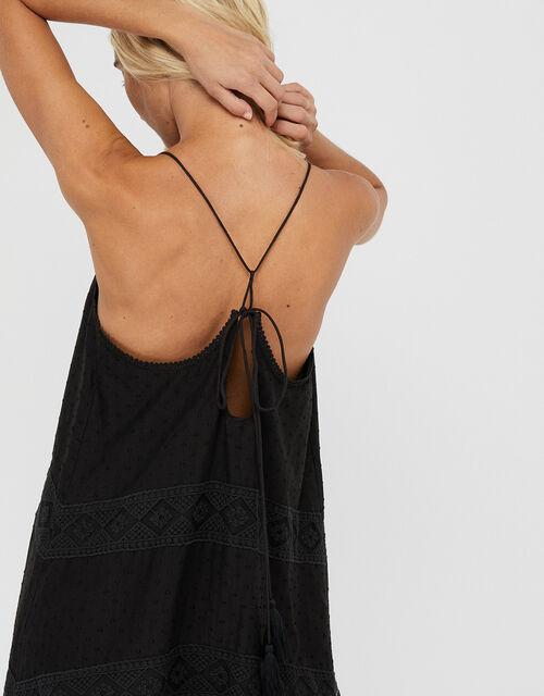 Lace Maxi Dress, Black (BLACK), large