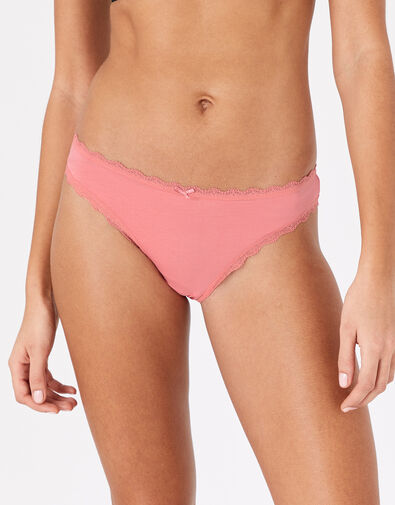 Lace Trim Brief Multipack with Natural Bamboo Multi, Multi (PASTEL-MULTI), large