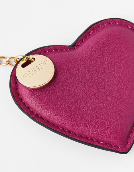Heart Keyring Red, Red (BERRY), large