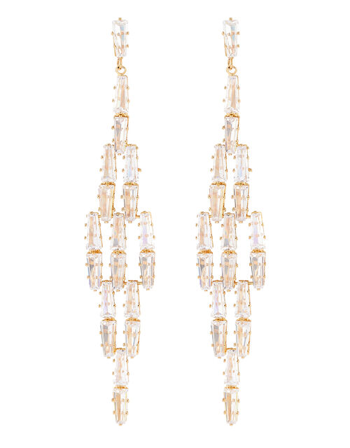 Statement Sparkle Chandelier Earrings, , large
