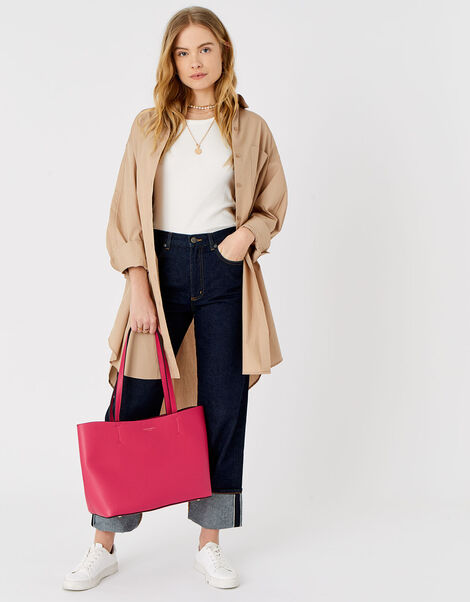 Leo Tote Bag Pink, Pink (PINK), large