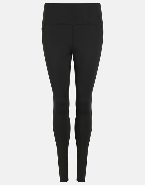 Full-Length Gym Leggings, Black (BLACK), large