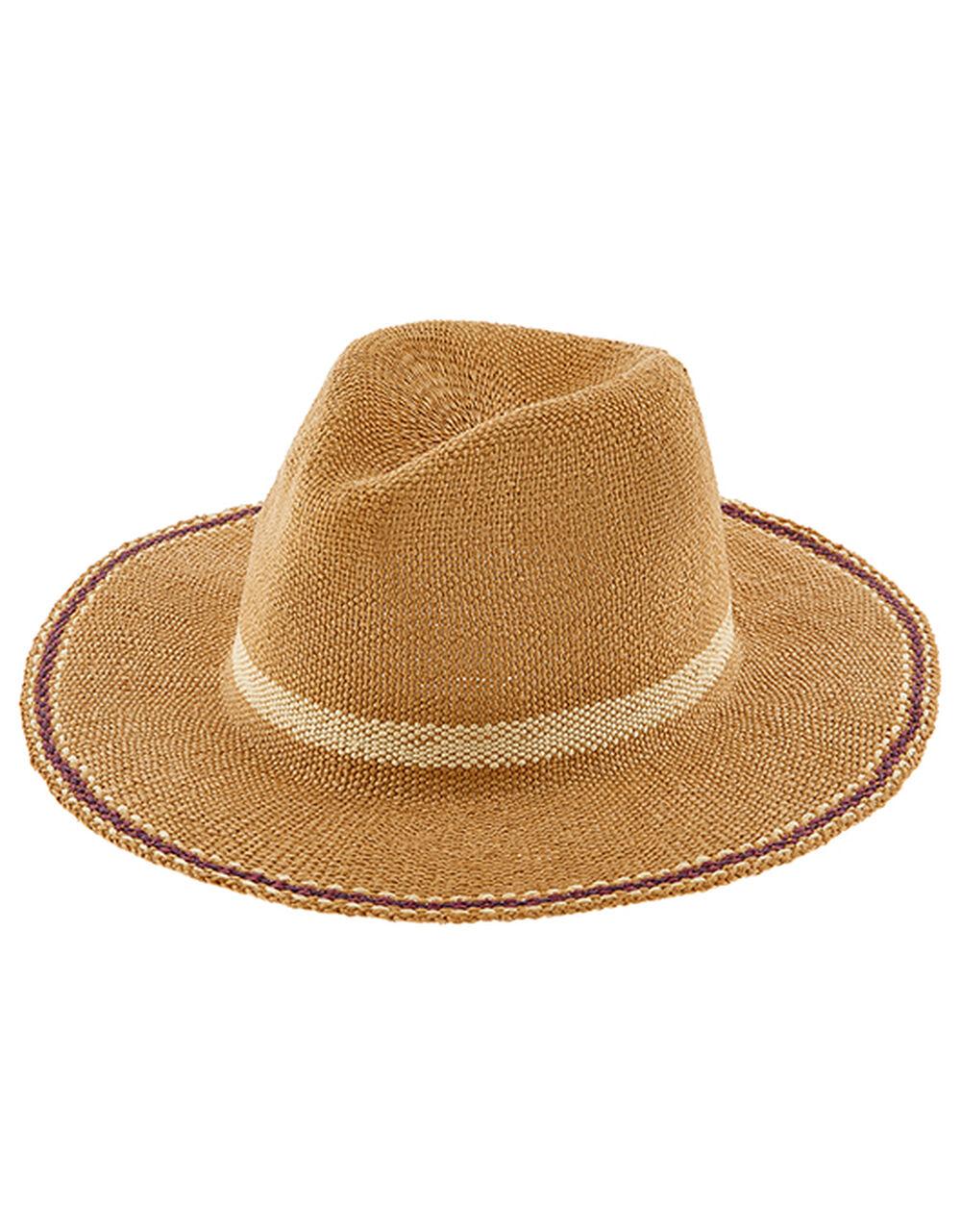 Casablanca Fedora Hat, Natural (NATURAL), large