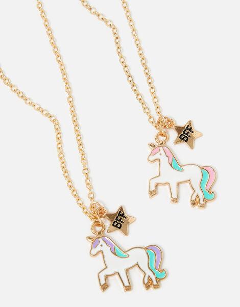 Unicorn BFF Necklace Twin Set, , large