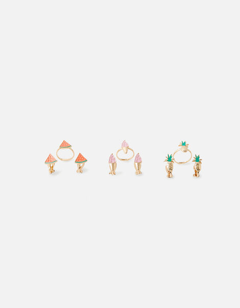 Fruit Clip-on Earring and Ring Set, , large