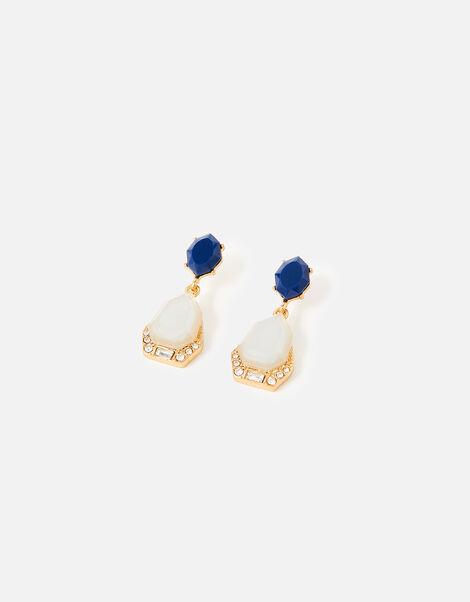 Midnight Sky Two-Tone Drop Earrings, , large