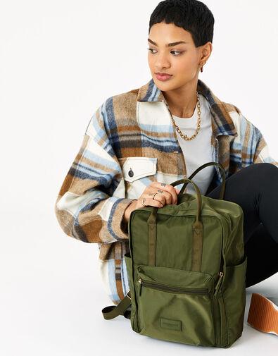 Frida Canvas Backpack  Green, Green (KHAKI), large