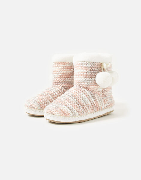 Knitted Slipper Boots Multi, Multi (PASTEL-MULTI), large