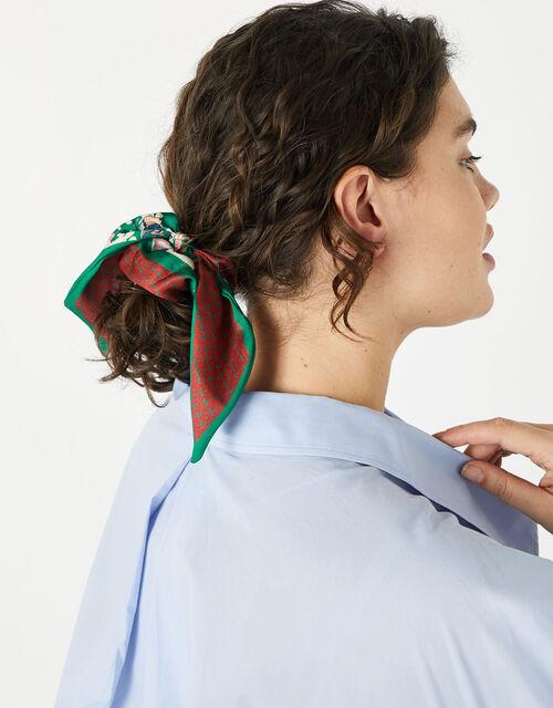 Printed Tie Hair Scrunchie, , large