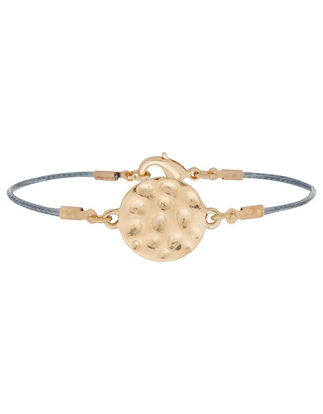 Hammered Disc Friendship Bracelet, , large