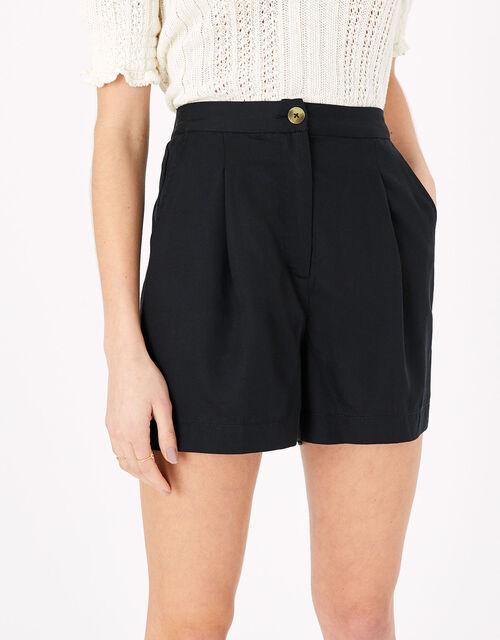 Smart High Waist Shorts, Black (BLACK), large
