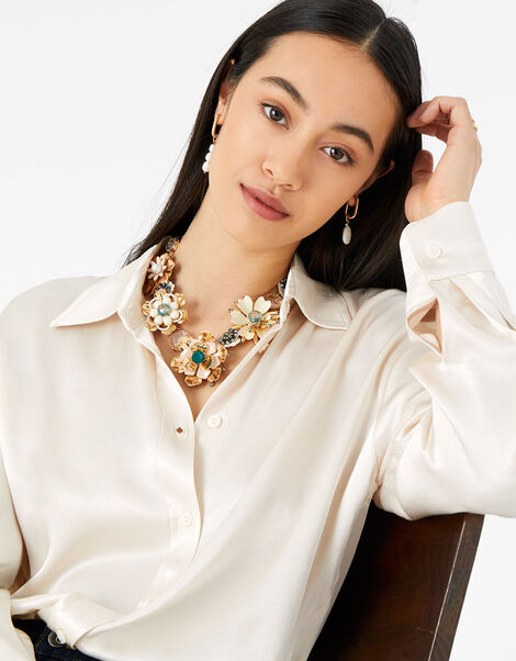 Meadow Muse Statement Collar Necklace , , large