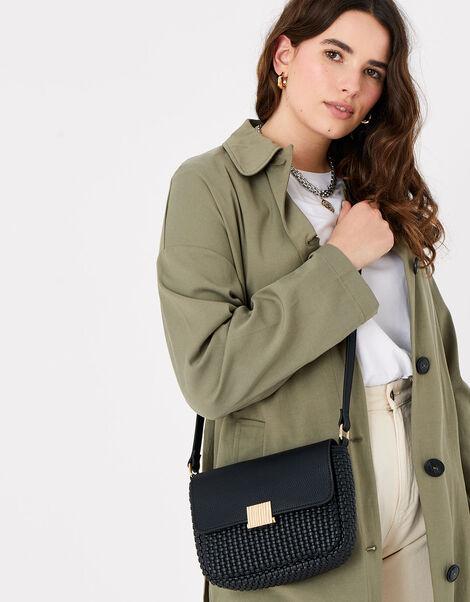 Leanne Weave Cross-Body Bag  Black, Black (BLACK), large