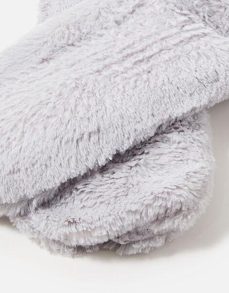 Fluffy Slipper Socks Grey, Grey (GREY), large