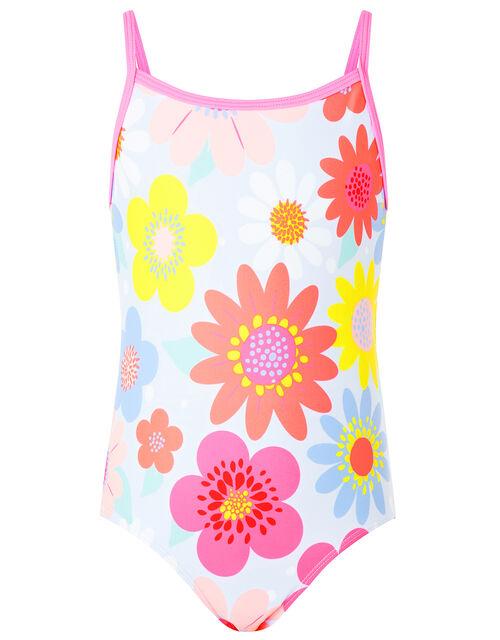 Retro Floral Swimsuit, Multi (BRIGHTS-MULTI), large
