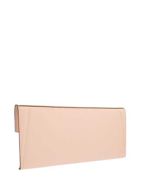 Envelope Clutch Bag, Nude (NUDE), large