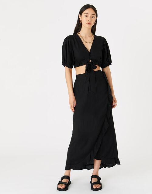 Wrap Co-ord Skirt, Black (BLACK), large