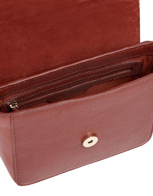 Lula Mini Flap Leather Cross-Body Bag, Orange (RUST), large
