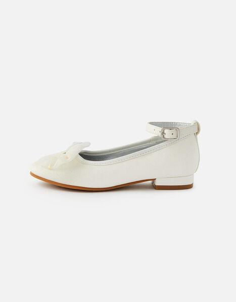 Star Bow Mini Heel Shoes Natural, Natural (IVORY), large