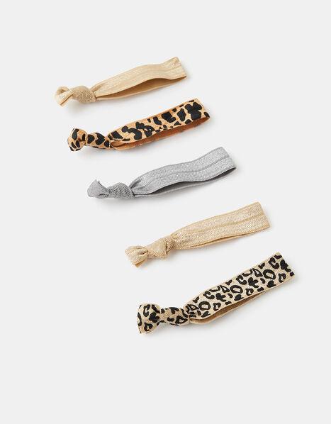 Animal and Metallic Hair Tie Multipack, , large