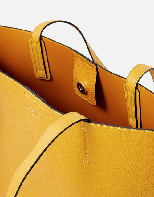 Leo Tote Bag, Yellow (OCHRE), large