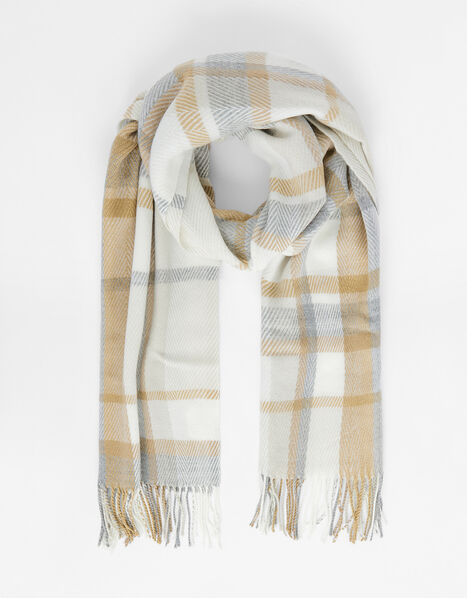 Queens Check Blanket Scarf, , large