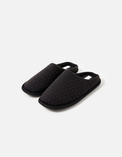 Bubble Stitch Slippers Black, Black (BLACK), large