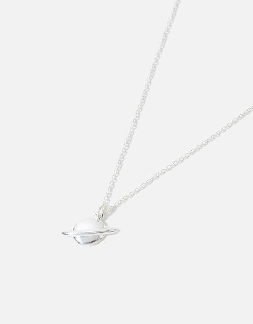 Sterling Silver Planet Pendant Necklace , , large