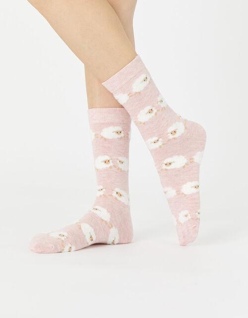 Fluffy Sheep Ankle Socks, , large